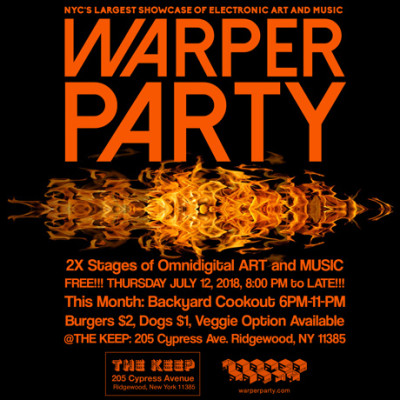 WARPER PARTY, July 12, 2018 @ The KEEP