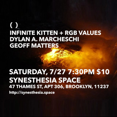 INFINITE KITTEN + RGB VALUES LIVE at SYNESTHESIA SPACE